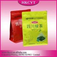 side gusset printed plastic empty green tea bags  Manufacturer