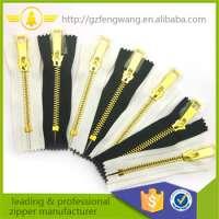 gold Teeth Metal Zipper