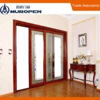 Lead lined flush bolt door aluminum wooden painting door Manufacturer