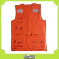 cotton work multi pocket vest many pockets Manufacturer