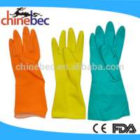 Colourful Household Rubber Gloves Kitchen Cleaning and Laundry Manufacturer