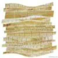 stained glass mosaic irregular shape Imitation wood color Manufacturer
