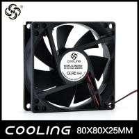 Axial flow fan 80x80x25mm 33v 5v 12v 24v small mini dc motor fan  Manufacturer