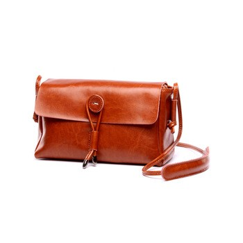 042b0f4df807 Handmade Brown Leather Satchel Bag Leather Fastener and Back Money Pocket