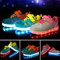 Children s LED Light Athletic Luminous Shoes kids Sport Sneaker Shoes Manufacturer