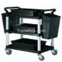 HS808B 3 tiers service cart hotel restaurant cleaning usage trolley cart Manufacturer