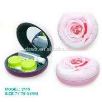 Personalized lens case cosmetic mirror travel kit Manufacturer
