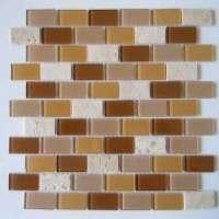Glass Mix Stone Mosaic Tiles Manufacturer