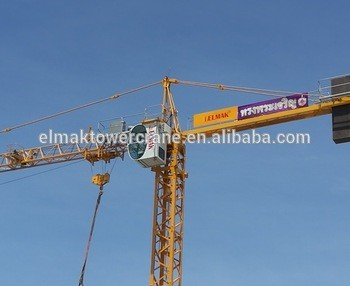 Flat Tower Crane tip load 1ton Topless Tower Crane