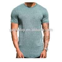 95 cotton 5 spandex t shirts men embroidered men s slim fit tshirt h2196 Manufacturer