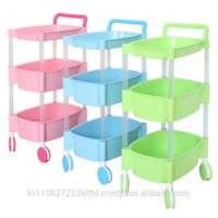 design plastic storage rolling cart organizer wheels Manufacturer
