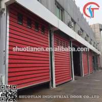 Insulation Aluminum spiral metal rapid rolling shutter door