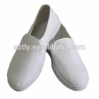 Antistatic white canvas shoes ESD protective cleanroom shoes