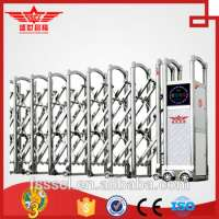 Stainless steel extension collapsible gate with alarm systerm