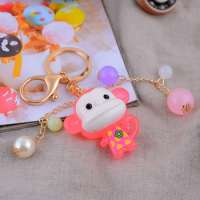 Monkey Animal Keychains Acrylic Jelly Key Chains Key Ring Metal Keyring Car Accessories Manufacturer