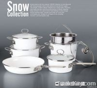 10pcs white cookware sets