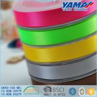 Yama polyester colorful double faced satin ribbon