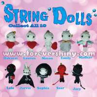 Small Gashapon Egg Refill Key Chain Toy Handmade Devil and Angel Cute Voodoo String Doll Capsule Manufacturer