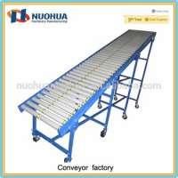 Portable inclined roller conveyorgravity roller conveyor unloading Manufacturer