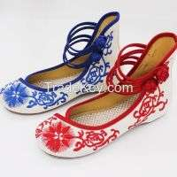 National linen embroidered shoes casual shoes Manufacturer