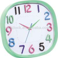 plastic square decorative clock