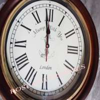 Brass & Wooden Antique Wall Clock Manufacturer