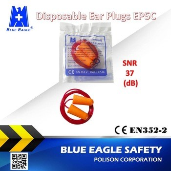 Workplace Safety Supplies EP5C orange disposable foam ear plugs
