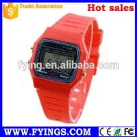 analog digital lcd wrist watch belt loop 22mm watch bandclassic digital watch Manufacturer