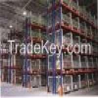 Blue Orange Logistic CentralLogistic Central Pallet Racking System Customized Manufacturer
