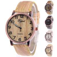 Quartz Watch Women Lady Wood Watch