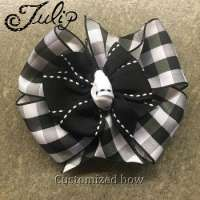 Polyester DF satin hand ribbon bow clip  Manufacturer