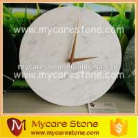 marble clock plate Carrara white marble wall clock Manufacturer