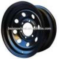 13x5 inch black wheel trailer wheel rim solf 8 steel wheel  Manufacturer