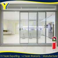 automatic sensor glass sliding aluminium gate  Manufacturer