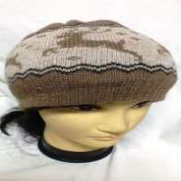 simple camel wool cap Manufacturer