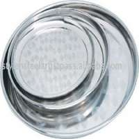 Stainless steel serving dish round 3036404650cm Manufacturer