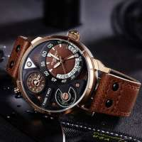 Men Sports Watches Relogio Masculino Waterproof Black Dial Males Chronograph Quartz Wrist Watch Furious Manufacturer