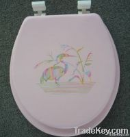 Embroidered Soft Toilet Seat Elongated
