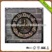 Retro 3D Hollow decoration wooden Clock