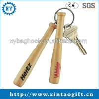 Low Engraved Wooden Keyring Wood Baseball Bat Keychain Manufacturer