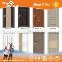 Waterproof PVC Toilet MDF Interior Door Designs Manufacturer