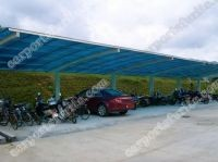 aluminum frame garden carport automobile rain shelter bicycle port