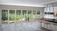 Aluminum Tempered Glass Sliding bifolding Door