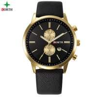 NORTH Gold Case Men Casual Quartz Analog Watch Manufacturer