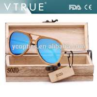 Wooden and Metal Classic Aviator Sunglasses Manufacturer