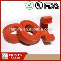 silicone rubber foam ring holes