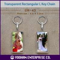 Rectangular Long Acrylic Photo Key Chain Manufacturer