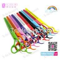 Hair Scissor Colorful Teflon coated Hairdressing Scissor Thinning scissors E2T Manufacturer
