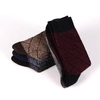 51de1975 Men Vintage National Wind Woolen Socks Autumn Thickening Warm Male Casual  Socks