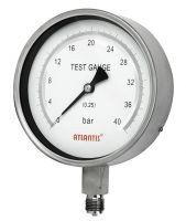 Precision Test Pressure Gauge All Stainless Steel Type